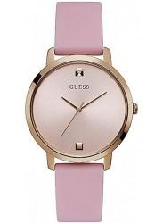 Guess Women's Nova Rose Gold Dial Pink Rubber Watch W1210L3