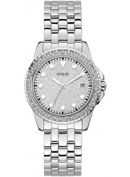 Guess Women's Spritz Silver Crystal Dial Stainless Steel Watch W1235L1
