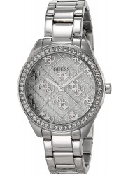Guess Women's Sugar Crystal Dial Stainless Steel Watch GW0001L1