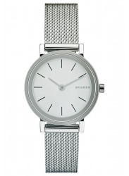 Skagen Women's Hald White Dial Mesh Watch SKW2441
