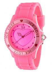 Ice Watch Women's  Ice Love Pink Dial Pink Silicone Watch LO.PK.U.S.10