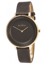 Skagen Women's Ditte Grey Leather Watch SKW2216