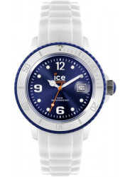 Ice Watch Unisex Blue Dial White Silicone Watch SI.WB.U.S.11