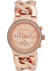 Michael Kors Women's Chronograph Rose Dial Twist Watch MK3247