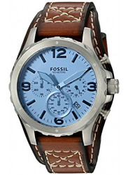 Fossil Men's Nate Chronograph Light Brown Leather Watch JR1515