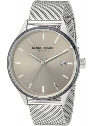 Kenneth Cole Men's Silver Tone Dial Watch 10030838