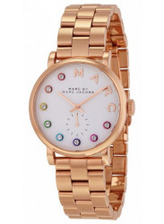 Marc by Marc Jacobs Women's Baker White Dial Rose Gold Tone Stainless Steel MBM3441