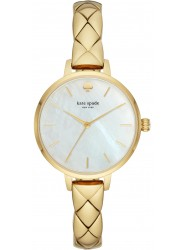 Kate Spade Women's Metro Mother of Pearl Dial Gold Stainless Steel Watch KSW1471