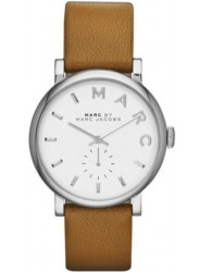 Marc by Marc Jacobs Women's Baker White Dial Brown Leather Watch MBM1265
