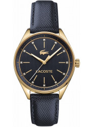 Lacoste Women's Philadelphia Blue Dial Blue Leather Watch 2000933