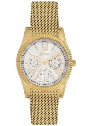 Lee Cooper Unisex White Multi Function Dial Gold Stainless Steel Watch LC06319.130