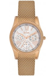 Lee Cooper Unisex White Multi Function Dial Rose Gold Stainless Steel Watch LC06319.430