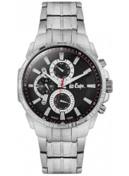 Lee Cooper Men's Chronograph Black Dial Stainless Steel Watch LC06511.350