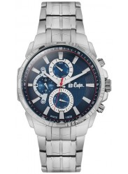 Lee Cooper Men's Chronograph Blue Dial Stainless Steel Watch LC06511.390
