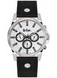 Lee Cooper Men's White Multi Function Dial Black Leather Watch LC06515.331