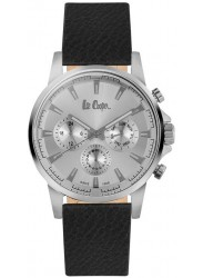 Lee Cooper Men's Silver Multi Function Dial Black Leather Watch LC06528.331