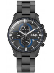 Lee Cooper Men's Black Multi Function Dial Black Stainless Steel Watch LC06535.060