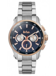 Lee Cooper Men's Blue Dial Stainless Steel Watch LC06538.590