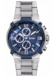 Lee Cooper Men's Chronograph Blue Dial Stainless Steel Watch LC06582.390