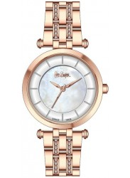 Lee Cooper Women's Mother of Pearl Dial Rose Gold Stainless Steel Watch LC06589.430