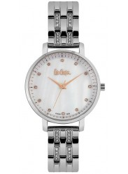 Lee Cooper Women's Mother of Pearl Dial Silver Metal Watch LC06627.320