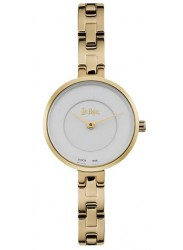 Lee Cooper Women's White Dial Gold Link Stainless Steel Watch LC06628.130