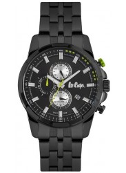 Lee Cooper Men's Chronograph Black Dial Black Stainless Steel Watch LC06653.660