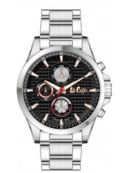 Lee Cooper Men's Chronograph Black Dial Stainless Steel Watch LC06661.350