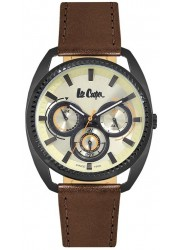 Lee Cooper Men's Chronograph Yellow Dial Brown Leather Strap Watch LC06664.672