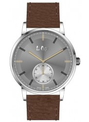 Lee Cooper Men's Chronograph Grey Dial Brown Leather Strap Watch LC06673.362
