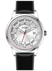 Lee Cooper Men's Silver Dial Black Leather Strap Watch LC06677.331