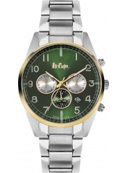 Lee Cooper Men's Chronograph Green Dial Stainless Steel Watch LC06313.270
