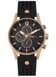 Lee Cooper Men's Chronograph Black Dial Black Silicone Watch LC06419.451