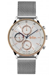 Lee Cooper Men's Chronograph White Dial Mesh Stainless Steel Watch LC06479.530