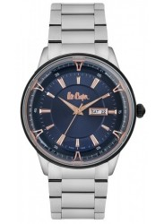 Lee Cooper Men's Blue Dial Stainless Steel Watch LC06856.390
