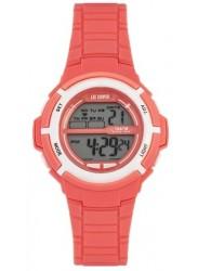 Lee Cooper Women's Digital Dial Pink Rubber Watch ORG05202.028