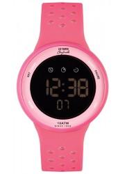 Lee Cooper Women's Originals Digital Black Dial Pink Rubber Watch ORG05203.018
