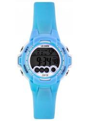 Lee Cooper Women's Digital Dial Light Blue Rubber Watch ORG05204.027