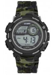 Lee Cooper Men's Originals Digital Dial Green Camo Rubber Watch ORG05607.620