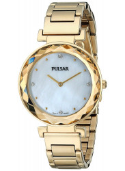 Pulsar Women's Mother Of Pearl Dial Gold Tone Watch PM2080