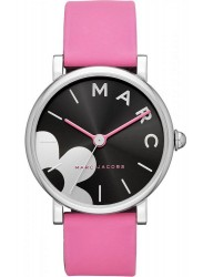 Marc Jacobs Women's Black Dial Stainless Steel Pink Leather Watch MJ1622