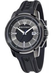 Maserati Men's Sfida Black/Silver Dial Black Rubber Watch R8851123004