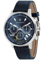 Maserati Men's GT Chronograph Blue Dial Blue Leather Watch R8871134002