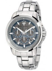 Maserati Men's Successo Chronograph Silver Dial Stainless Steel Watch R8873621006