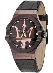 Maserati Men's Potenza Brown Dial Brown Leather Watch R8851108011