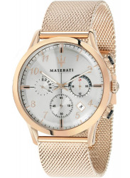 Maserati Men's Ricordo Chronograph Rose Gold Mesh Watch R8873625002