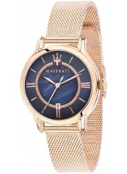 Maserati Women's Epoca Blue Mother of Pearl Dial Rose Gold Stainless Steel Watch R8853118503