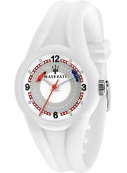 Maserati Children's Campione White Dial White Rubber Watch R8851135006