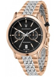 Maserati Men's Legend Chronograph Black Dial Two Tone Stainless Steel Watch R8873638005