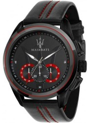Maserati Men's Traguardo Chronograph Black Leather Watch R8871612023